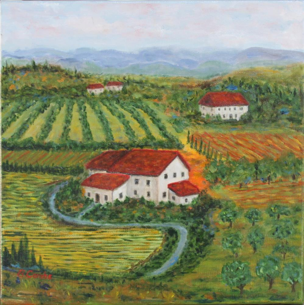 """Tuscany Vista"" original fine art by Bebe Combs"