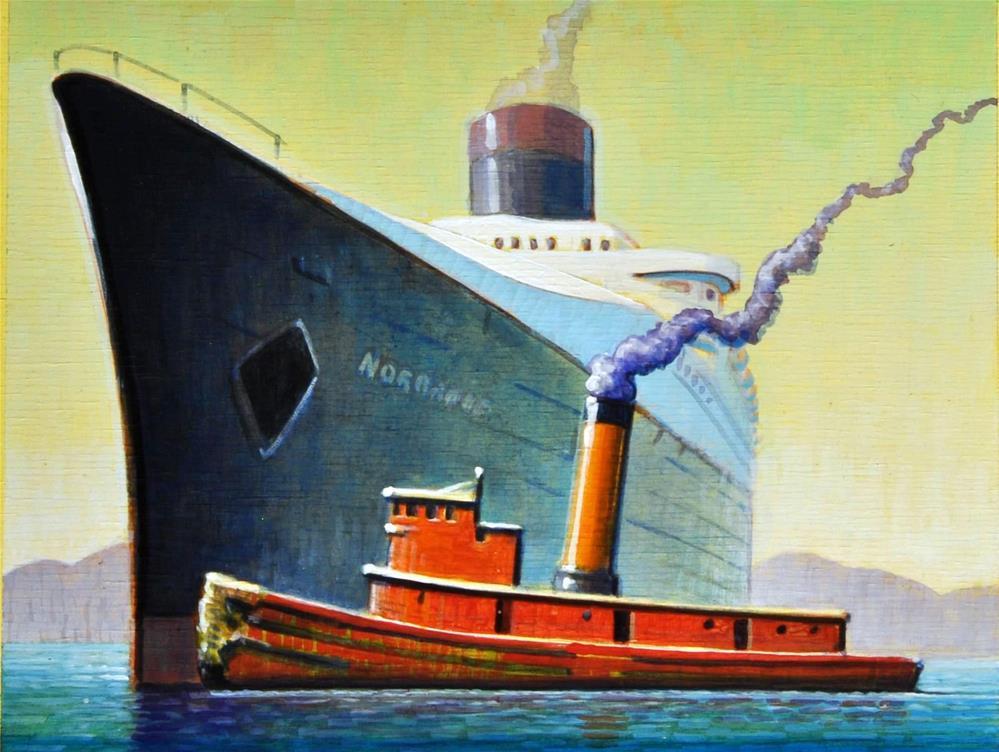 """""""Tug"""" original fine art by Robert LaDuke"""