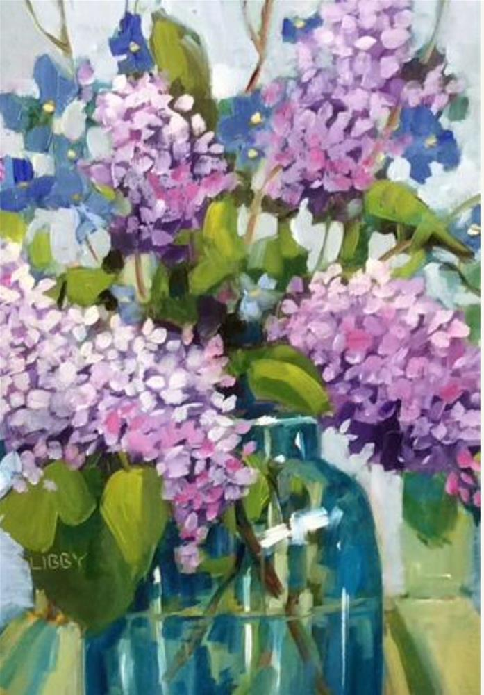 """""""Love Those Lilacs"""" original fine art by Libby Anderson"""