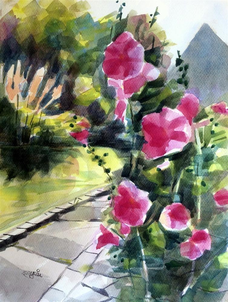 """""""When I Was Walking #6"""" original fine art by Suzanne Gysin"""
