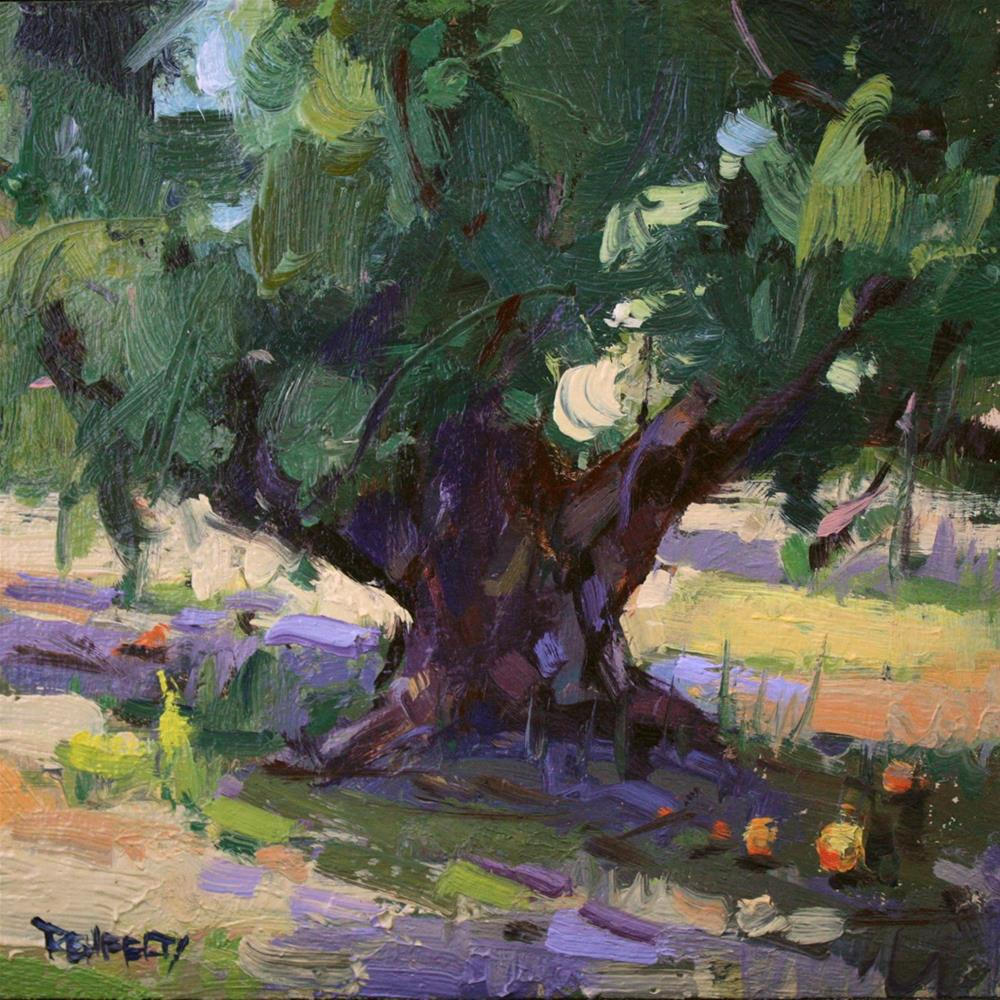 """Orchard Tree"" original fine art by Cathleen Rehfeld"
