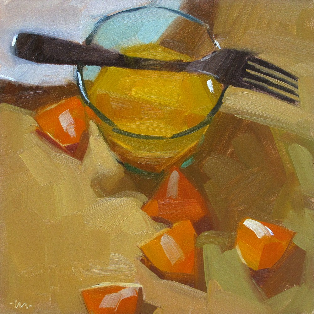 """Orange and Juice"" original fine art by Carol Marine"