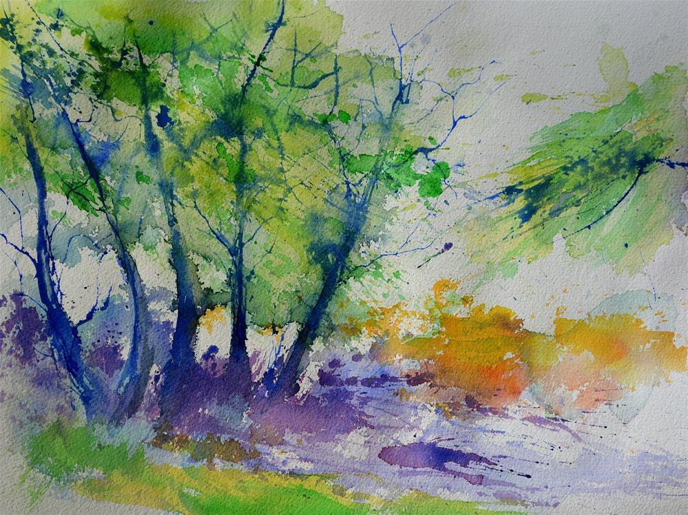 """""""watercolor 613020"""" original fine art by Pol Ledent"""