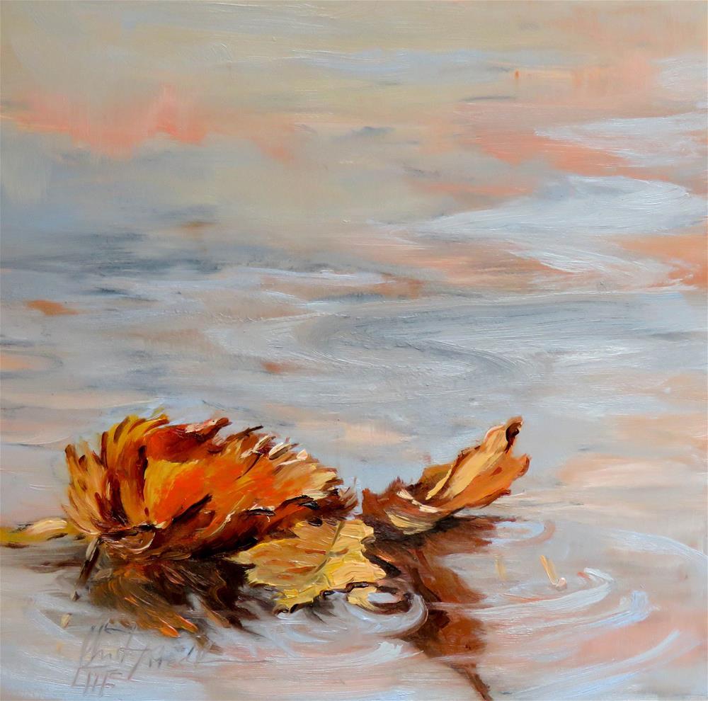 """Dancing Leaves"" original fine art by Christa Friedl"