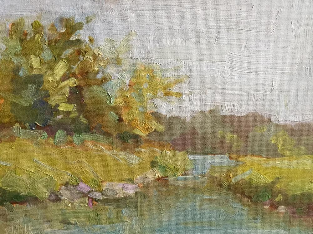 """Summer Morning at the Lake"" original fine art by Barb Walker"