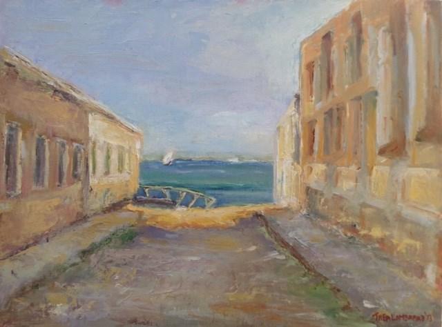 """""""Ilha de Mozambique Dhow"""" original fine art by Thea Lombaard"""