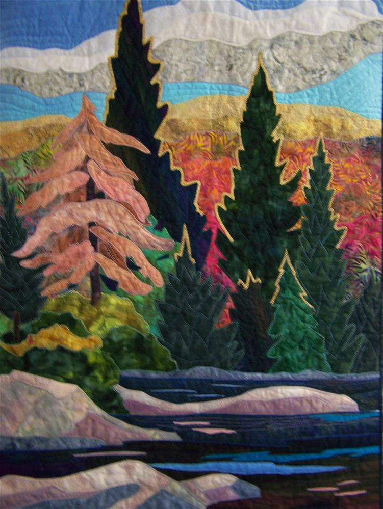 """Spires"" original fine art by Joan Reive"