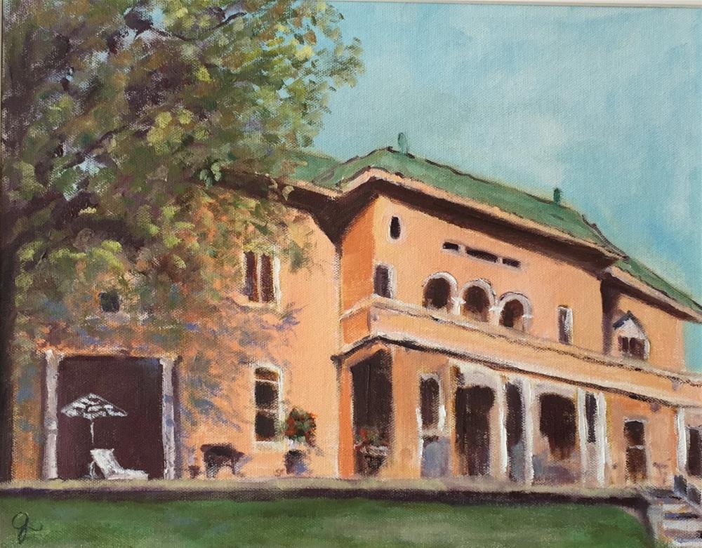 """JH Adams Inn"" original fine art by Gayle Lambeth"
