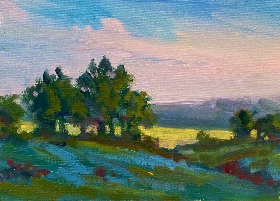 """""""PASSING"""" original fine art by Doug Carter"""