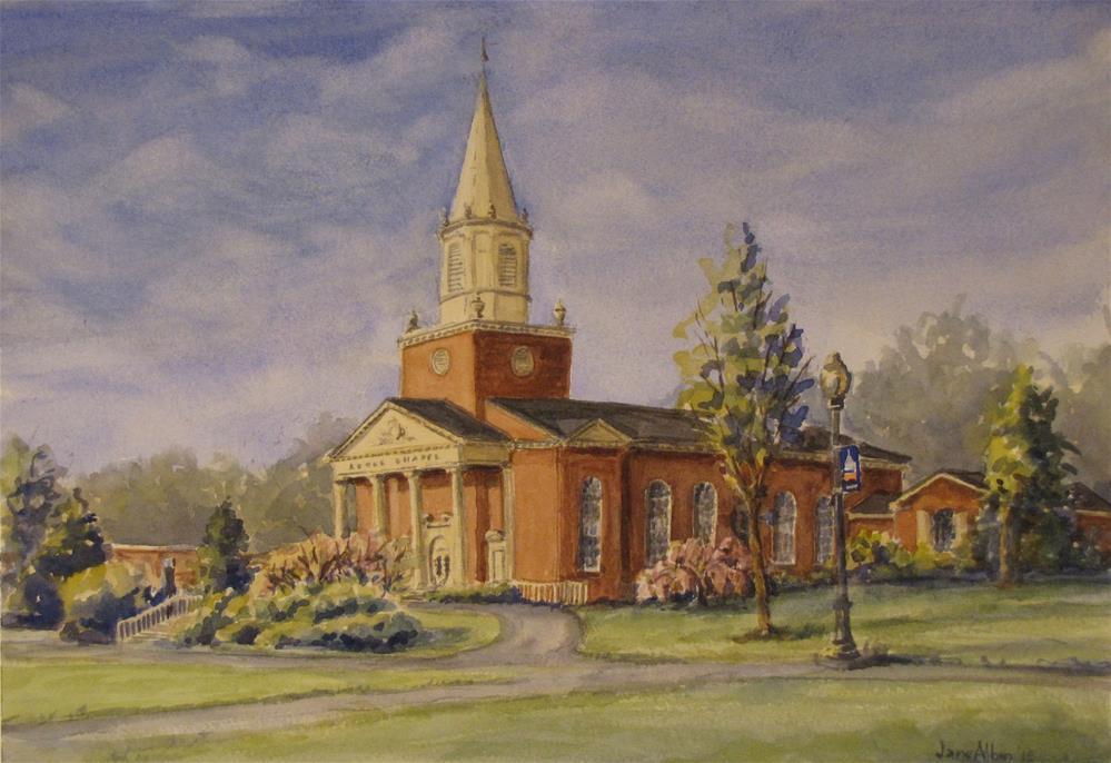 """""""Rooke Chapel"""" original fine art by Jane Albin"""