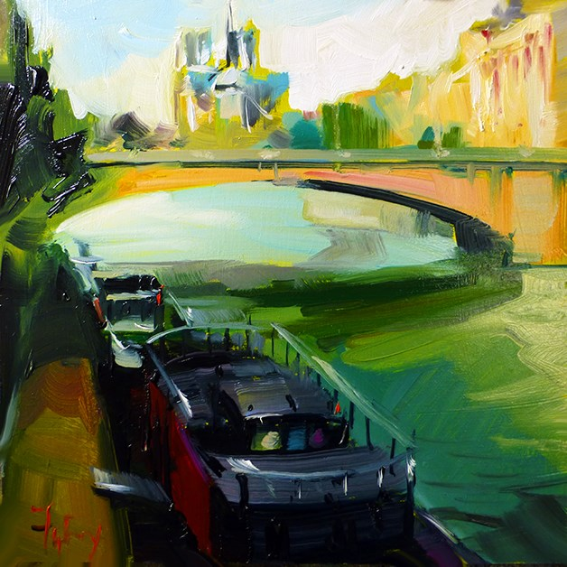 """Dia Seine"" original fine art by Jurij Frey"
