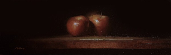 """Two Apples - study"" original fine art by Neil Carroll"