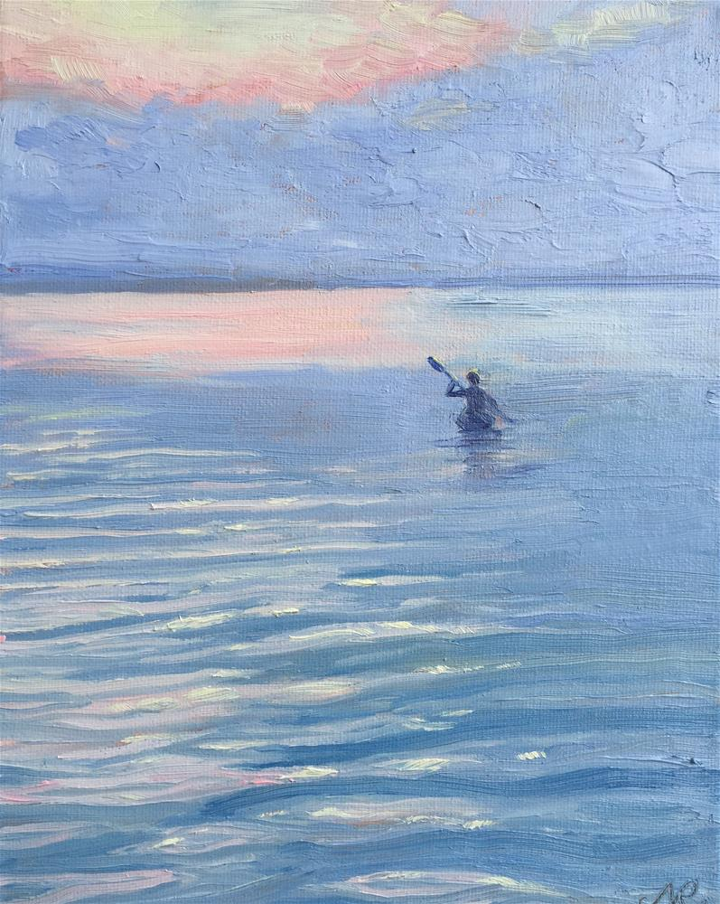 """kayaker"" original fine art by Natasha Ramras"