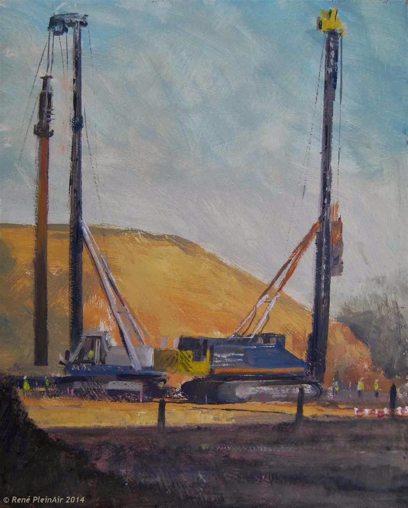 """Pile driving feast. Doetinchem, Holland."" original fine art by René PleinAir"