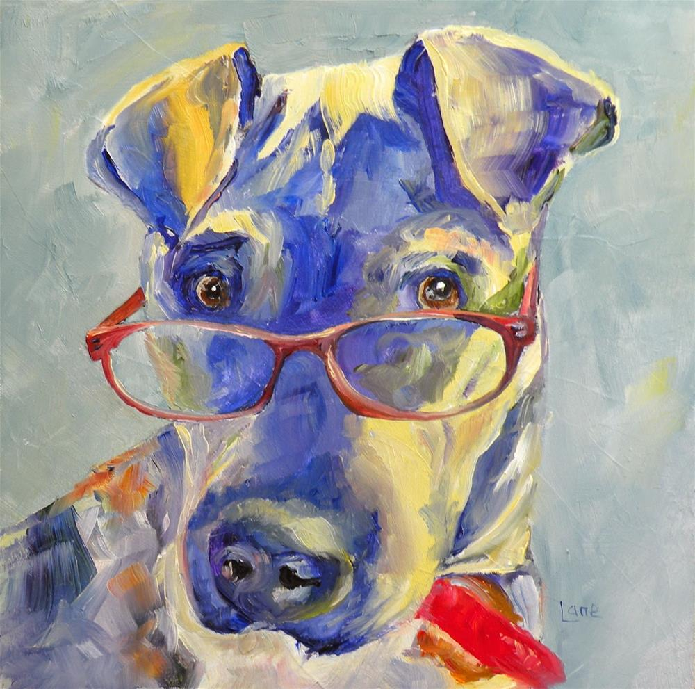 """ZELLA MAE 17/100 OF 100 PET PORTRAITS IN 100 DAYS © SAUNDRA LANE GALLOWAY"" original fine art by Saundra Lane Galloway"