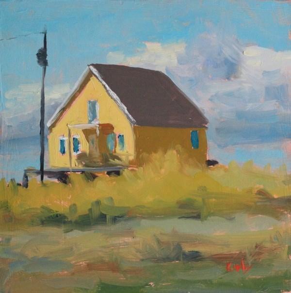"""""""Beach House"""" original fine art by Randall Cogburn"""