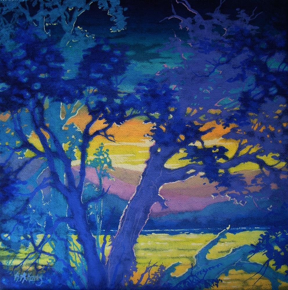 """Dawn Just the Other Side of the River Moorcroft Musings Series"" original fine art by Alida Akers"