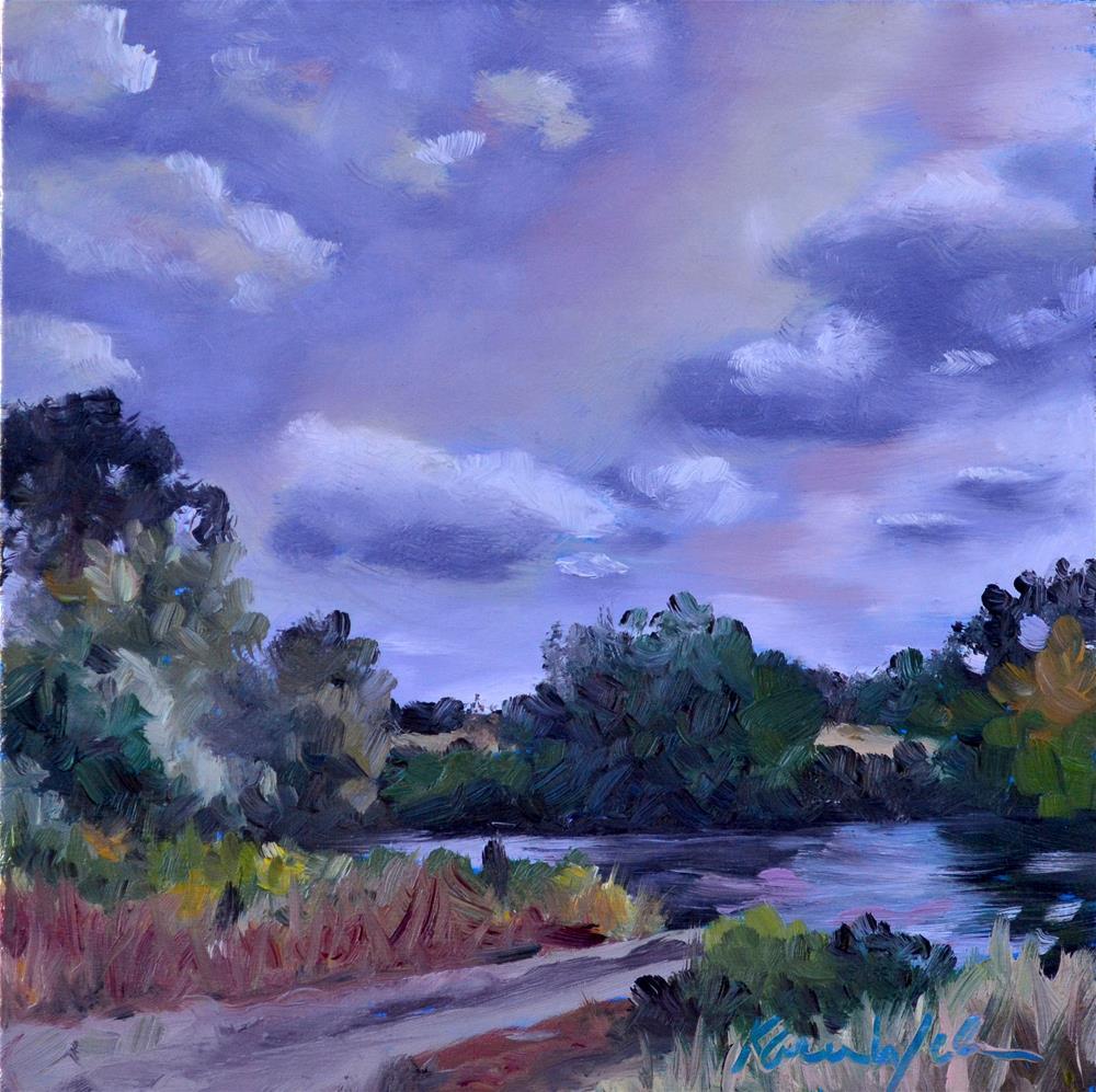 """""""Lucky Fishin' Hole"""" original fine art by Karen Weber"""