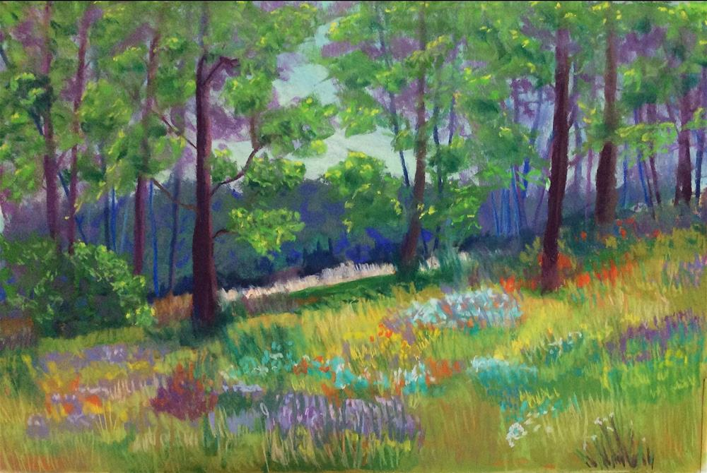 """Summer Hills"" original fine art by Sharon Cullen"