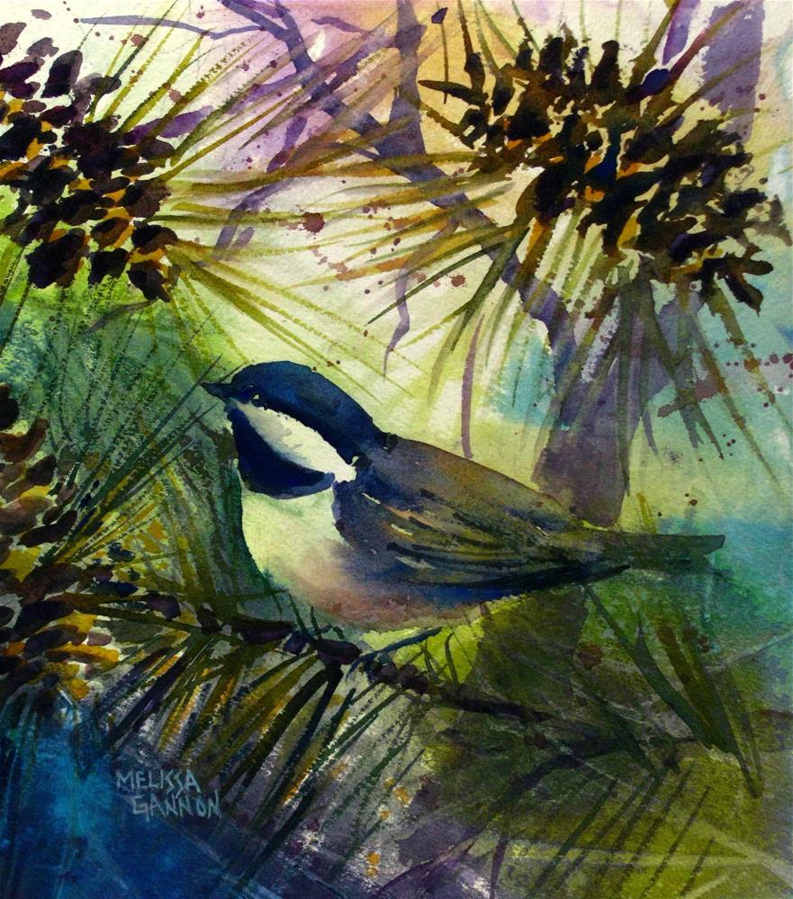 """""""Pine Tree View"""" original fine art by Melissa Gannon"""