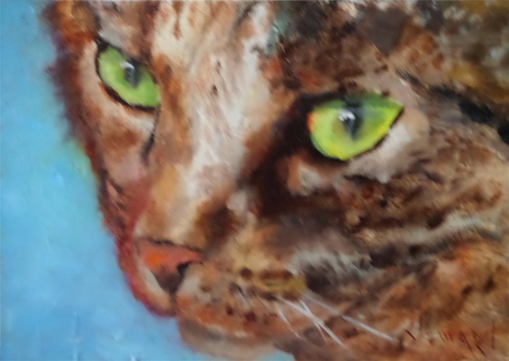 """CATTITUDE"" original fine art by Kris Stewart"