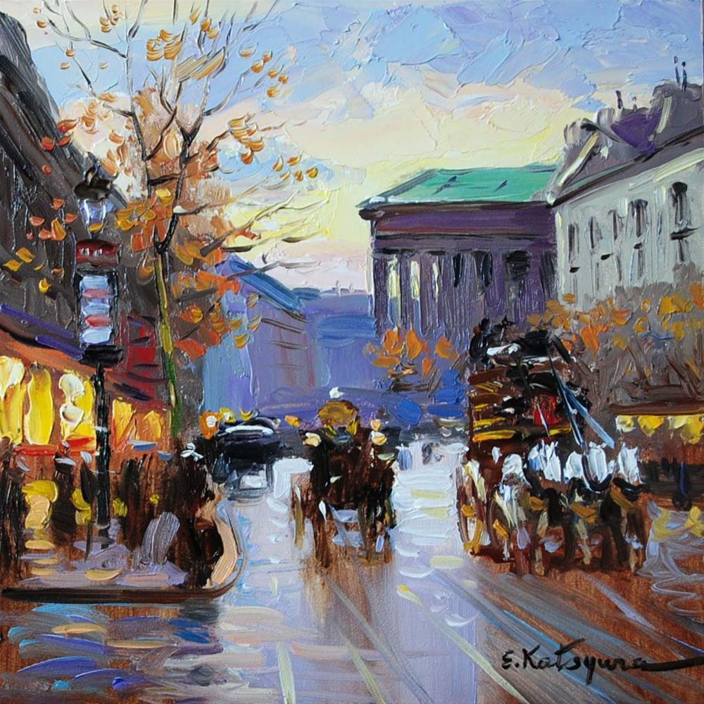 """Paris Street II"" original fine art by Elena Katsyura"