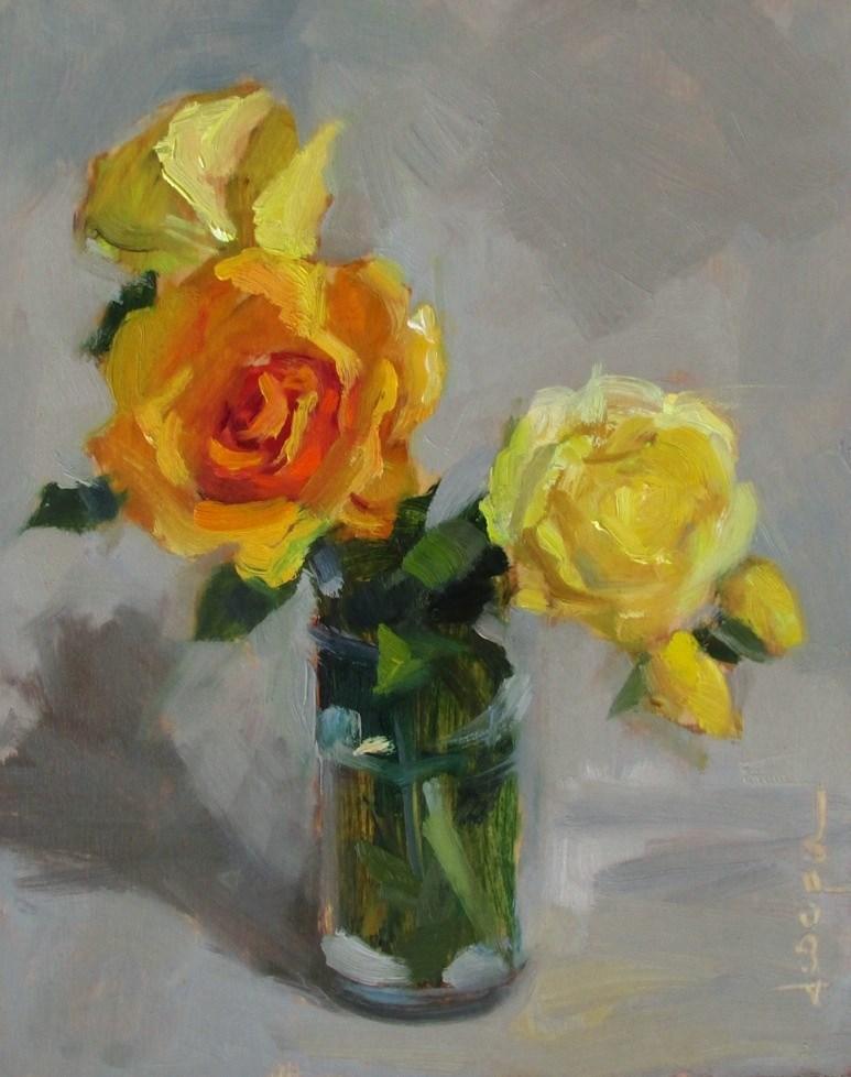 """Spring Roses"" original fine art by Dana Cooper"