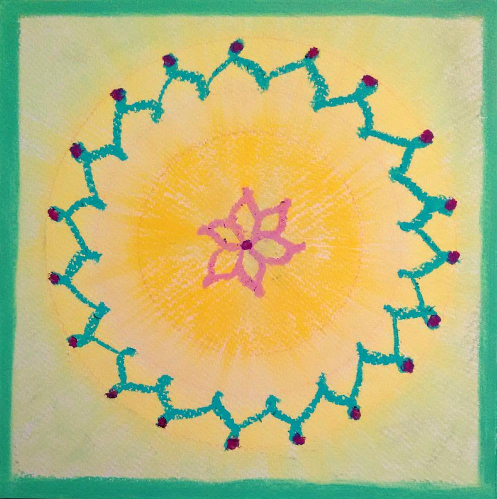 """Mandala of Joy"" original fine art by Adéla Svobodová"