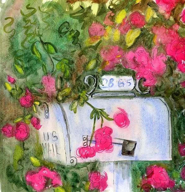 """Summer's Mailbox"" original fine art by Sue Furrow"