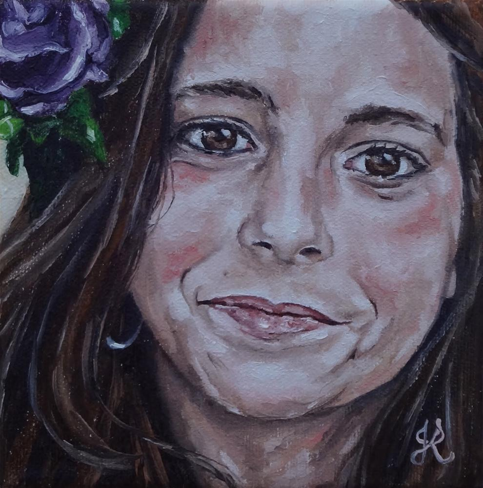 """Girl VI"" original fine art by Jacinthe Rivard"