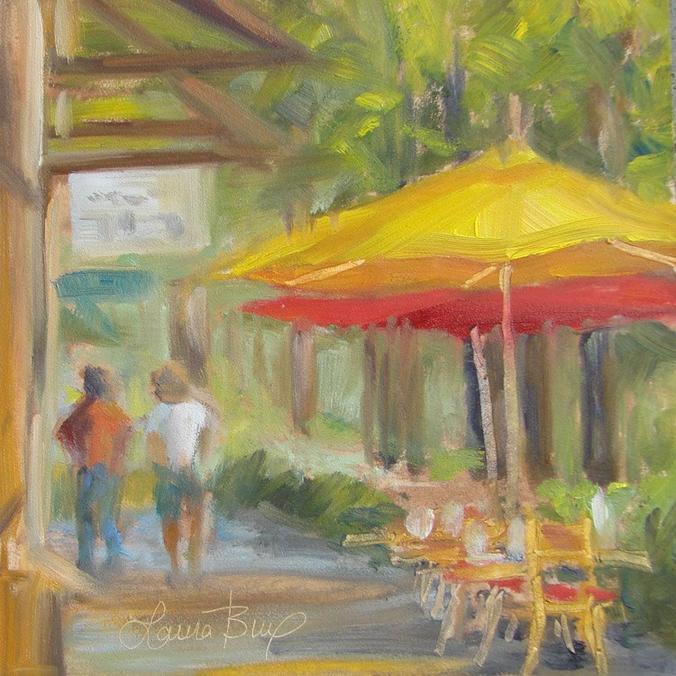 """Sidewalk Café - 401"" original fine art by Laura  Buxo"