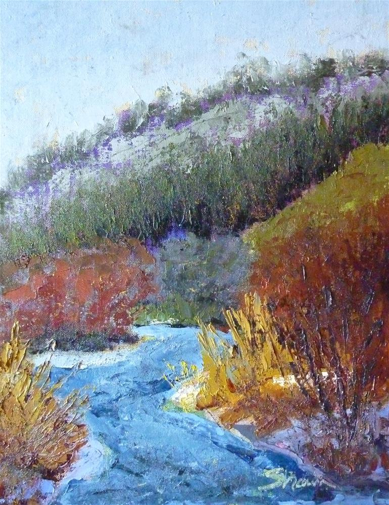 """Blue River 2"" original fine art by Shawn Deitch"