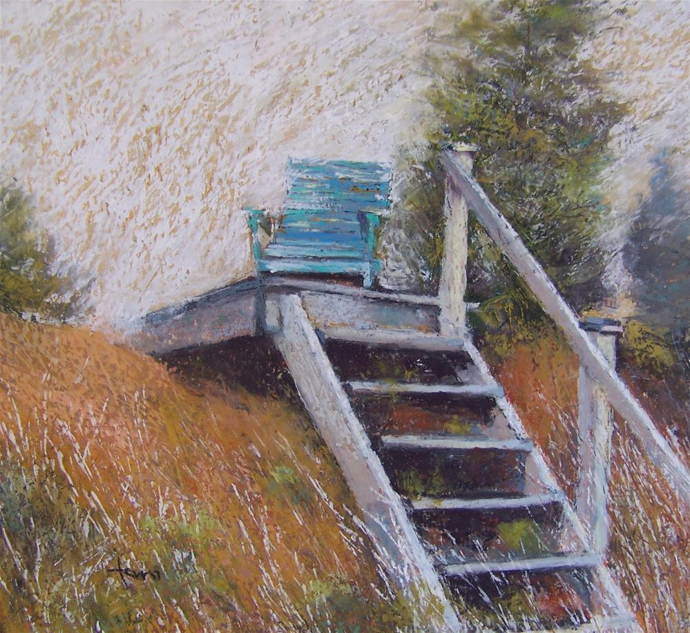 """""""Fog Lifting"""" original fine art by Susan Ferro"""