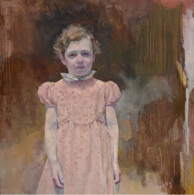 """Lil Pink Dress"" original fine art by Katie Wilson"