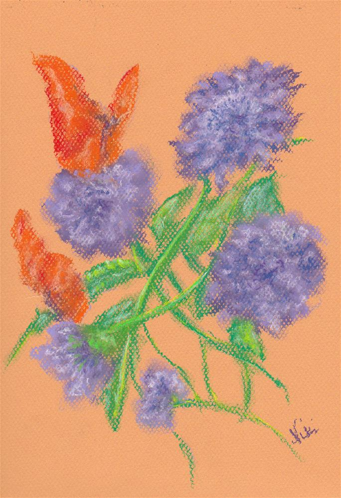 """Petals and Wings"" original fine art by Niki Hilsabeck"