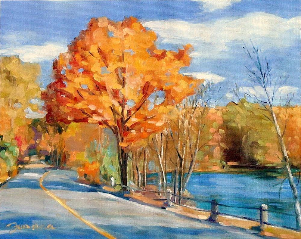 """Early Fall in New England"" original fine art by Joanna Bingham"