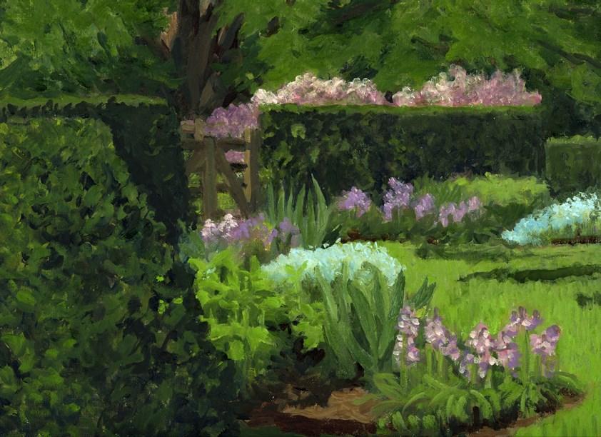 """HEDGES"" original fine art by Nancy Herman"