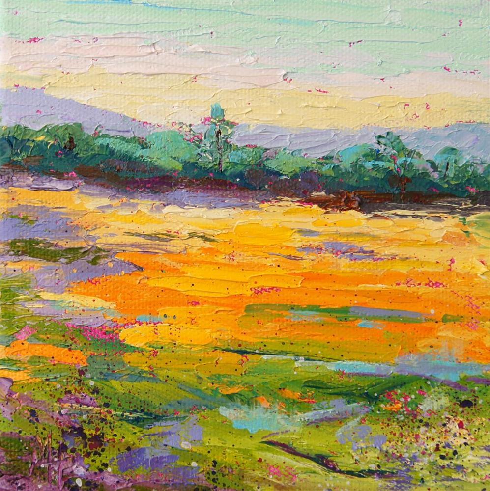 """Summer Meadow 2"" original fine art by Marion Hedger"