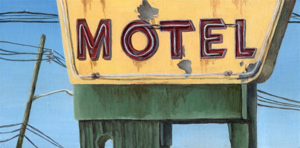 """Motor Hotel"" original fine art by Debbie Shirley"