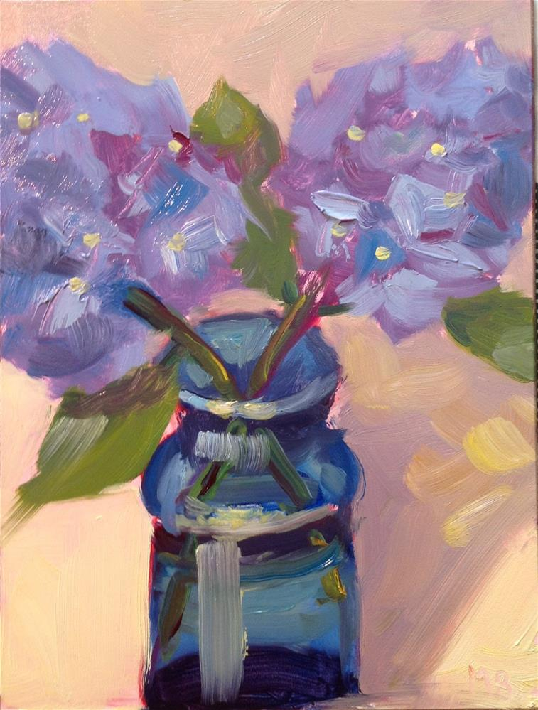 """Blue Vase"" original fine art by Marcia Bergtholdt"