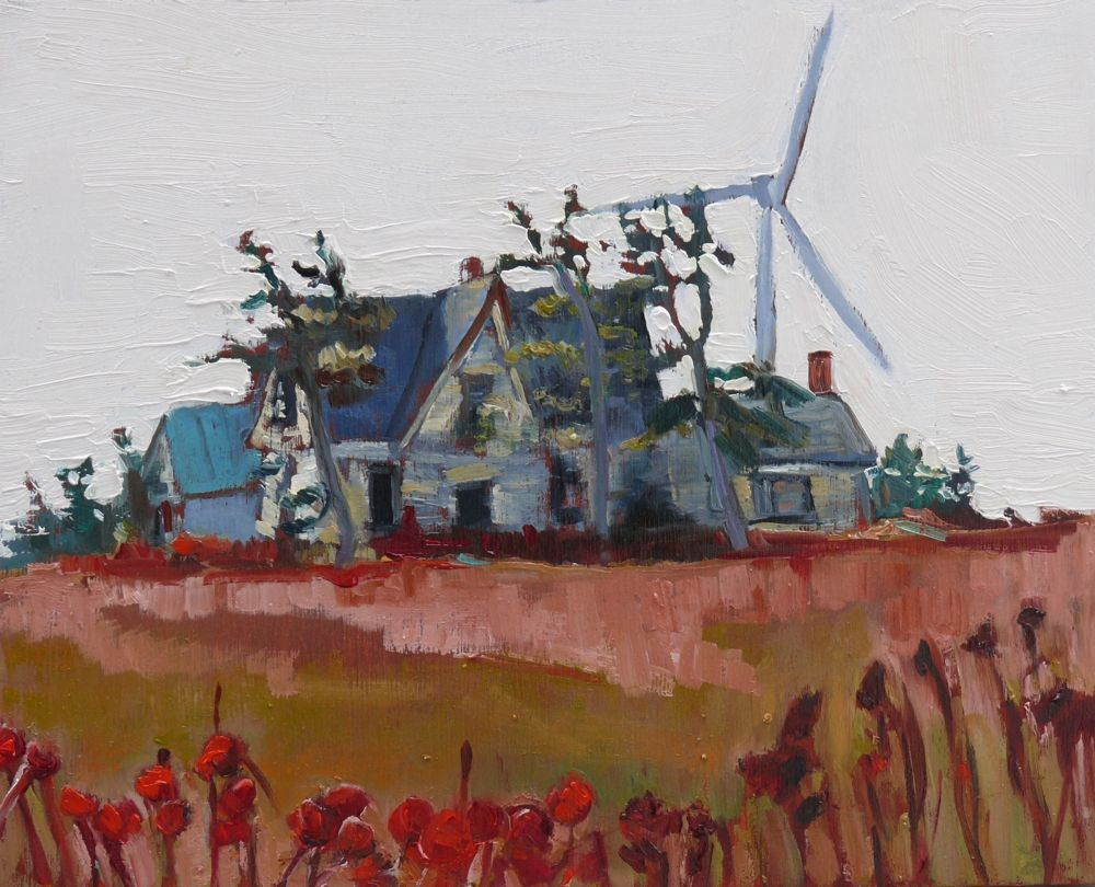 """548 Wind Power"" original fine art by Darlene Young"
