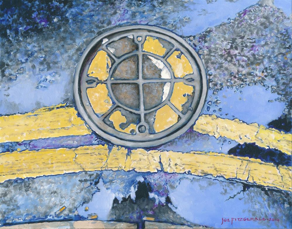 """""""Walking in London III"""" original fine art by Joe Fitzgerald"""