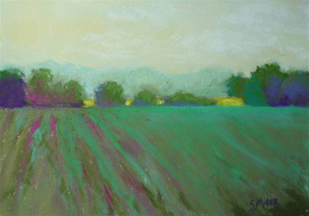 """Summer Farm"" original fine art by Sandi Miller"