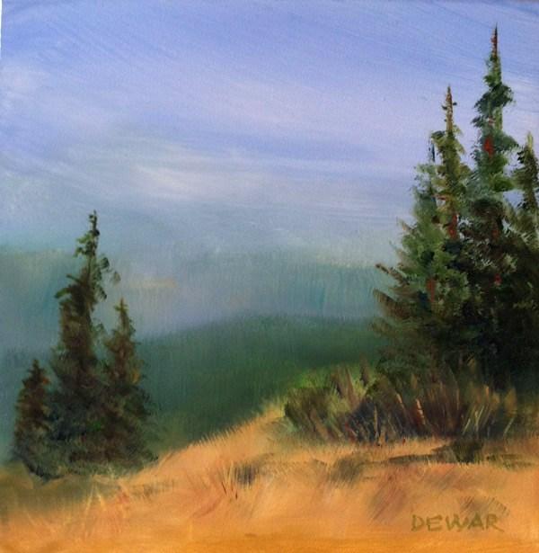 """""""Olympic Vista"""" original fine art by Kay Dewar"""