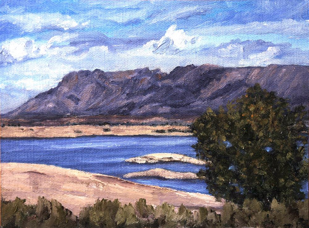 """Elephant Butte Lake"" original fine art by Candi Hogan"