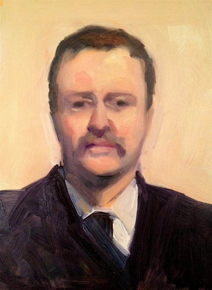 """Teddy Roosevelt"" original fine art by Ann Feldman"