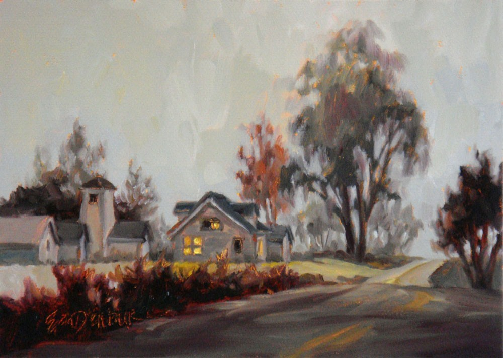 """Fabulous Fog"" original fine art by Erin Dertner"