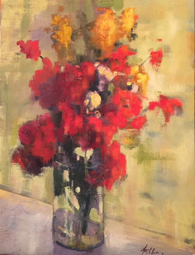 """Summer Windowsill, 9x12"" original fine art by Ann Feldman"
