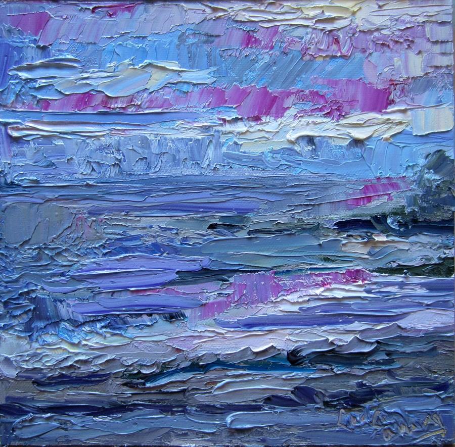 """Twilight Ocean"" original fine art by Carol Steinberg"
