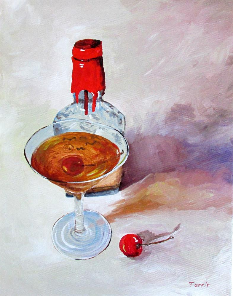 """Bourbon Manhattan"" original fine art by Torrie Smiley"